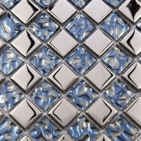 metallic mosaic bathroom tiles metallic mosaic tile mirror brushed blue kitchen