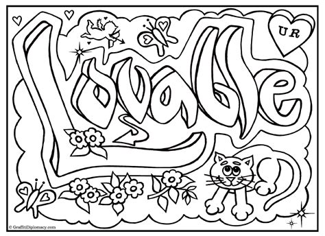 Awesome Graffiti Coloring Pages | awesome graffiti pages coloring pages