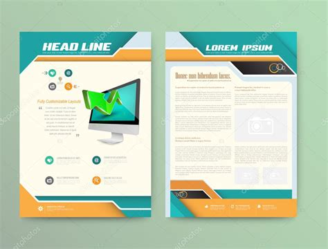 brochure flyer leaflet layout design template stock brochure cover design templates abstract flyer modern