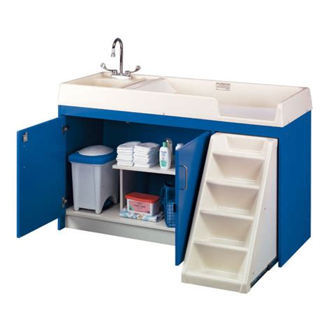 Tot Mate 8520a Changing Table W Sink Stairs Changing Table With Steps