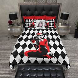 Toddler Bed Sheets Harley Quinn Harlequin Duvet Bedding Sets Ink And Rags