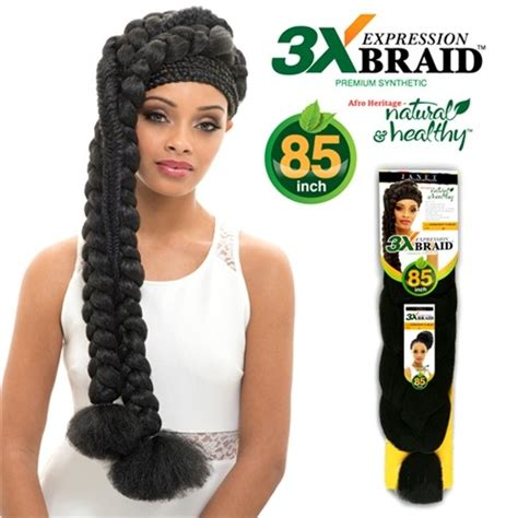braids styles using 3x expression janet collection expression 3x braid 85 inch
