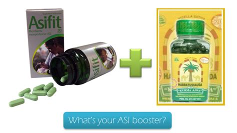 Vitamin Asifit Mommies Journal What S Your Asi Booster Catatan