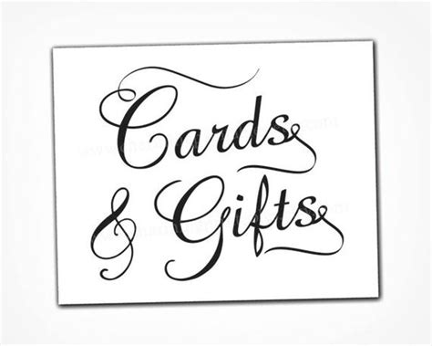 cards and gifts sign template card and gift table sign instant printable pdf