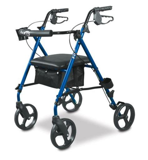 hugo walker with seat hugo fit rollator walker with padded seat backrest and