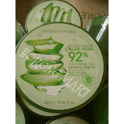 Harga Nature Republic Aloe Vera Ori promo nature republic aloe vera 92 soothing gel 300 ml