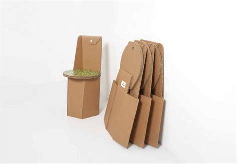 sedia di cartone sedia in cartone ricicalbile piega