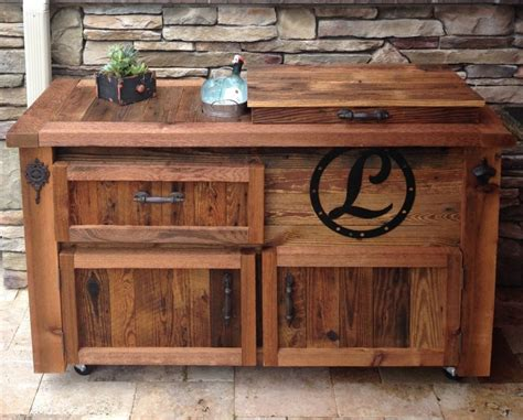 Portable Islands For Kitchens Reclaimed Cooler Bar Cabinet Reclaimed Rustic