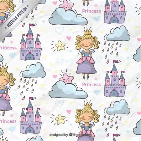 pattern princess vector fairytale princess pattern vector premium download