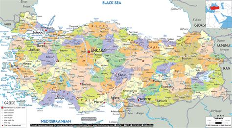 turkey on the map political map of turkey ezilon maps