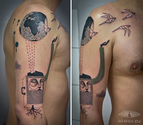cubism tattoo surreal cubist tattoos the texture tattoos