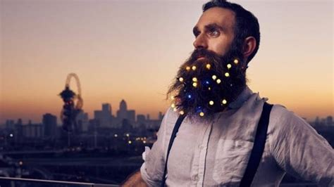 you can wear christmas lights in your beard if you want