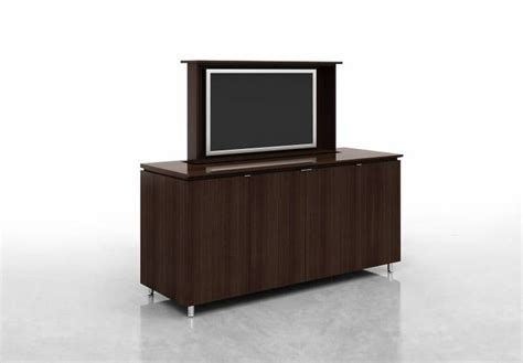 conference room credenza custom credenza with plasma screen lift by nucraft conference meeting room