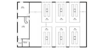 Auto Shop Floor Plans Commercial Steel Buildings General Steel