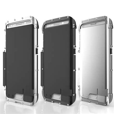 Dijamin Armor King Aluminium Stainless Samsung S6 Flip Black Original Armor King Iron Design Stainless Steel