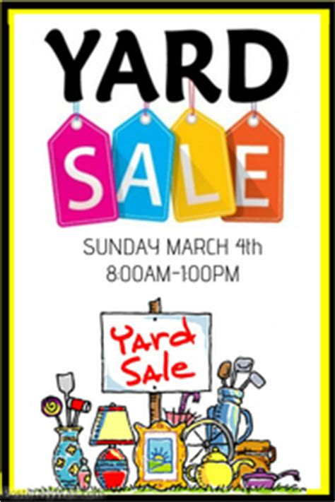 yard sale template garage sale flyer templates postermywall