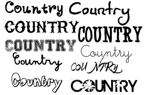 country style lettering as media studies masthead font styles