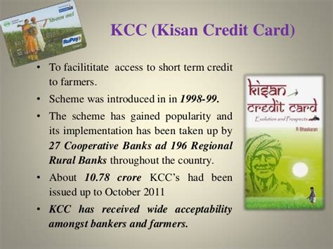 Kisan Credit Card Application Form Agricultural Schemes Ppt