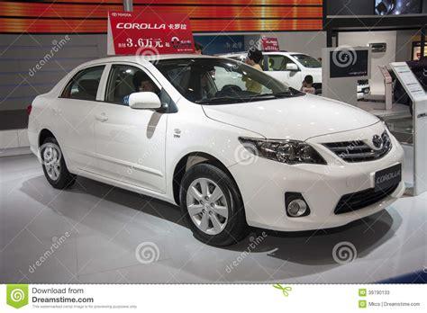 White Toyota Corolla White Toyota Corolla Car Editorial Stock Photo Image