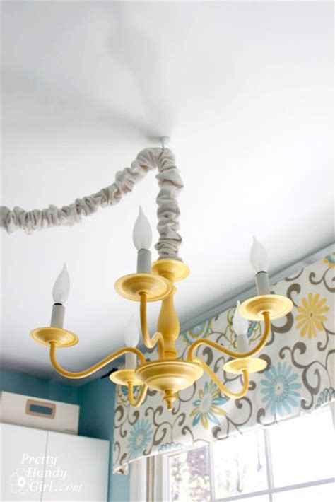 how to swag a chandelier how to swag a light fixture pretty handy