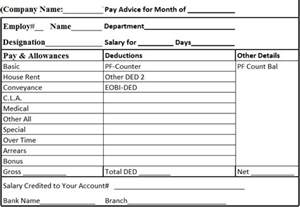 employee salary slip format template excel email