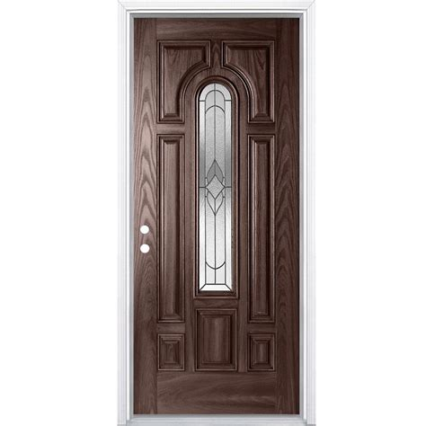 36 Inch Exterior Door Masonite 36 Inch X 4 9 16 Inch Oxney Merlot Centre Arch Fibreglass Right Entry Door The