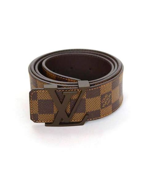 Sabuk Louis Vuitton Lv Belt Black Buckle Silver Mirror Quality louis vuitton initiales damier belt with lv buckle sz 110 for sale at 1stdibs