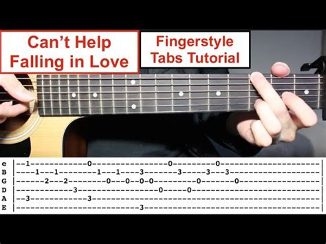 tutorial fingerstyle can t help falling in love elvis presley easy