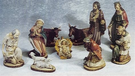 nativity crib figure set complete or as individual made in