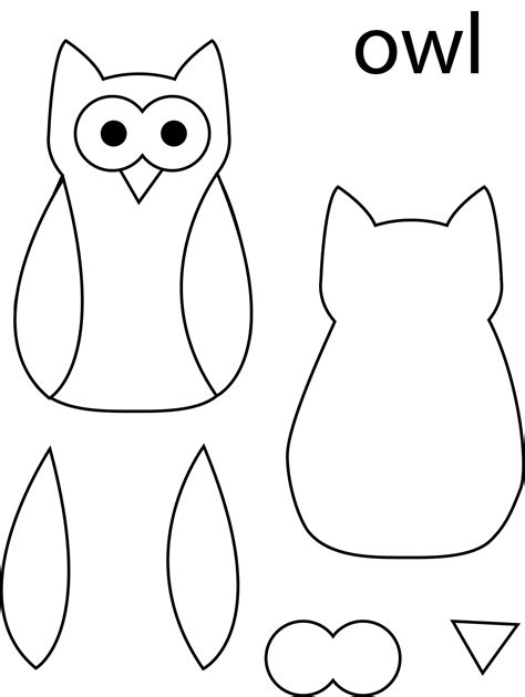 printable owl template for sewing owl template partners for peace