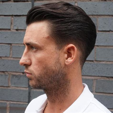mens crown thinning brush back 20 trendy slicked back hair styles