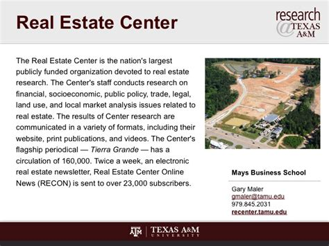 at texas am university home real estate center at real estate center research texas a m inform