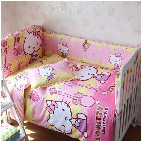 Nursery Cot Bedding Sets 6 Pieces Crib Baby Bedding Set Baby Nursery Cot Bedding Crib Bumper Sheet Baby Bedding In