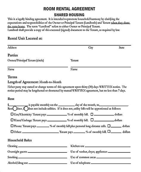 room rental agreements california room rental agreement california template danetteforda