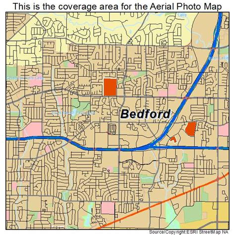 bedford texas map aerial photography map of bedford tx texas