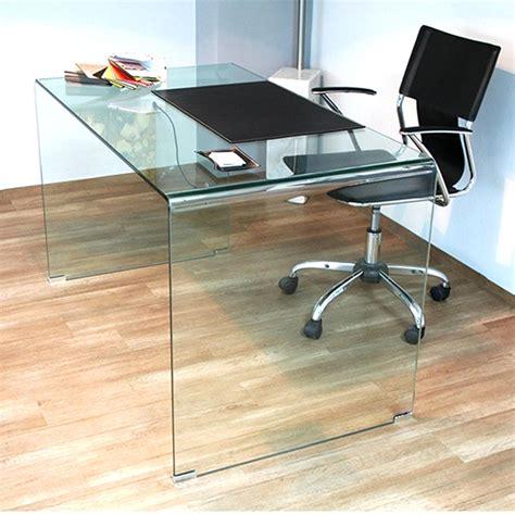 scrivania in vetro curvato tavolo scrivania in vetro curvato 100x70xh73 cm spessore