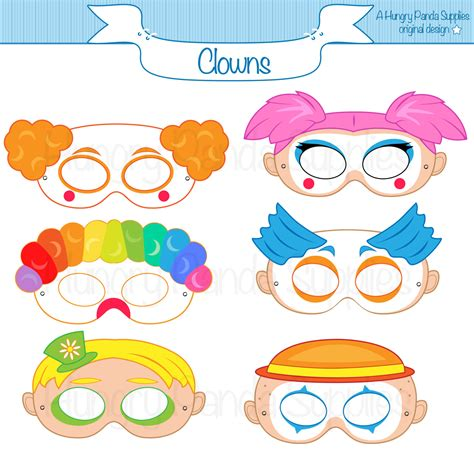clown mask template clown printable masks clown mask clown masks circus clown