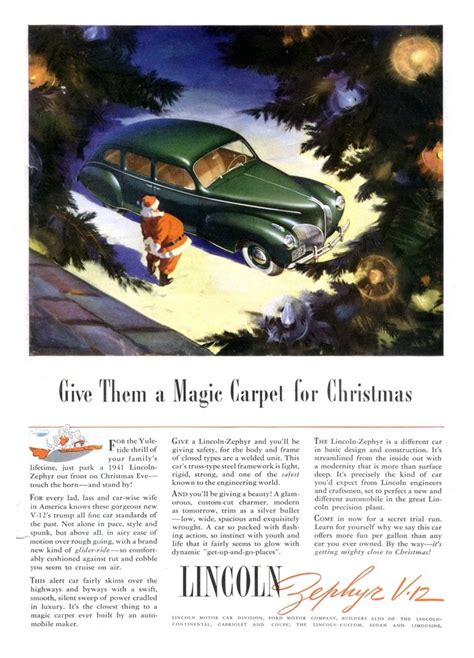 celebrate christmas   cool vintage car ads top speed
