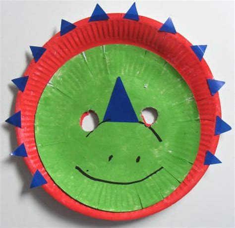 Paper Plate Mask - seven recycled paper plate projects for green diary