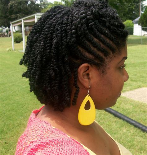 flat twist styles for short hair bakuland women man