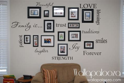 word wall stickers for bedrooms family wall decal set of 12 family words family room wall