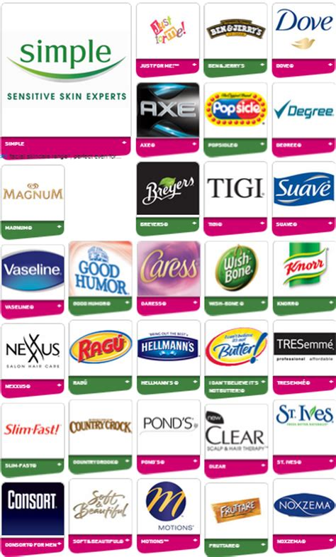 email format unilever free unilever coupon book