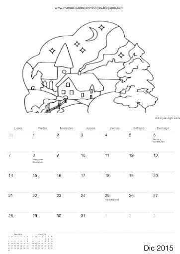 calendario para colorear pinterest the world s catalog of ideas