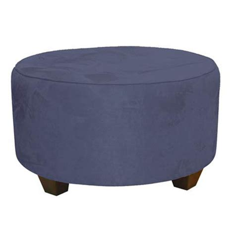 tufted round cocktail ottoman premier lazuli tufted round cocktail ottoman skyline