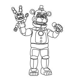 fnaf coloring pages freddy funtime freddy 2d thingy by theultimatecyborg on