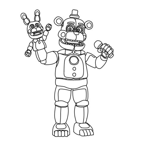 five nights of freddy coloring pages freddy five nights at freddys free colouring pages