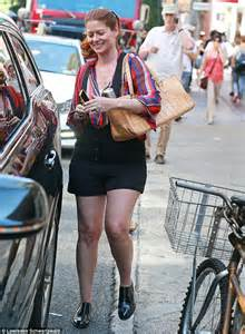 Debora Shirt Point One debra messing steps out in gaudy striped shirt and frumpy