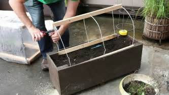 Raised Box Garden - patio gardening home made planter box greenhouse vancouver youtube