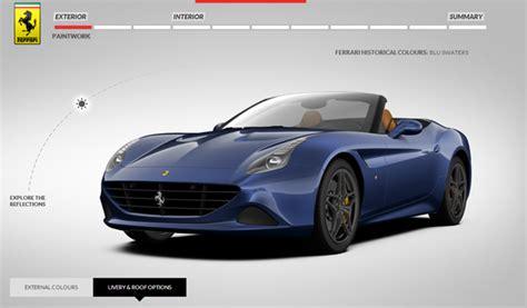 Ferrari Configurator by Ferrari California T Online Configurator Launched Gtspirit