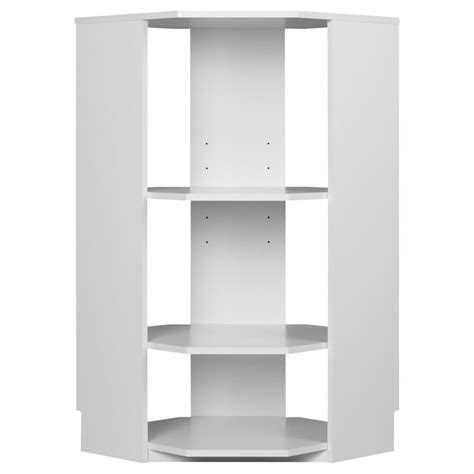 3 Shelf Corner Bookcase Ameriwood Systembuild 3 Shelf Corner Wood Bookcase In White